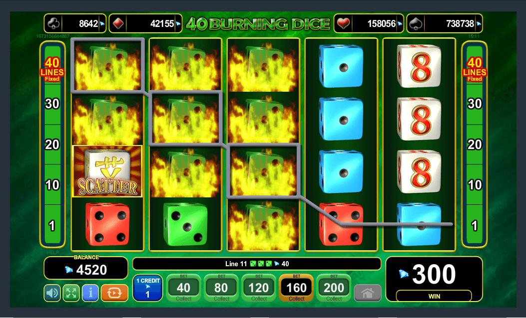 EGT Interactive 40 Burning Dice