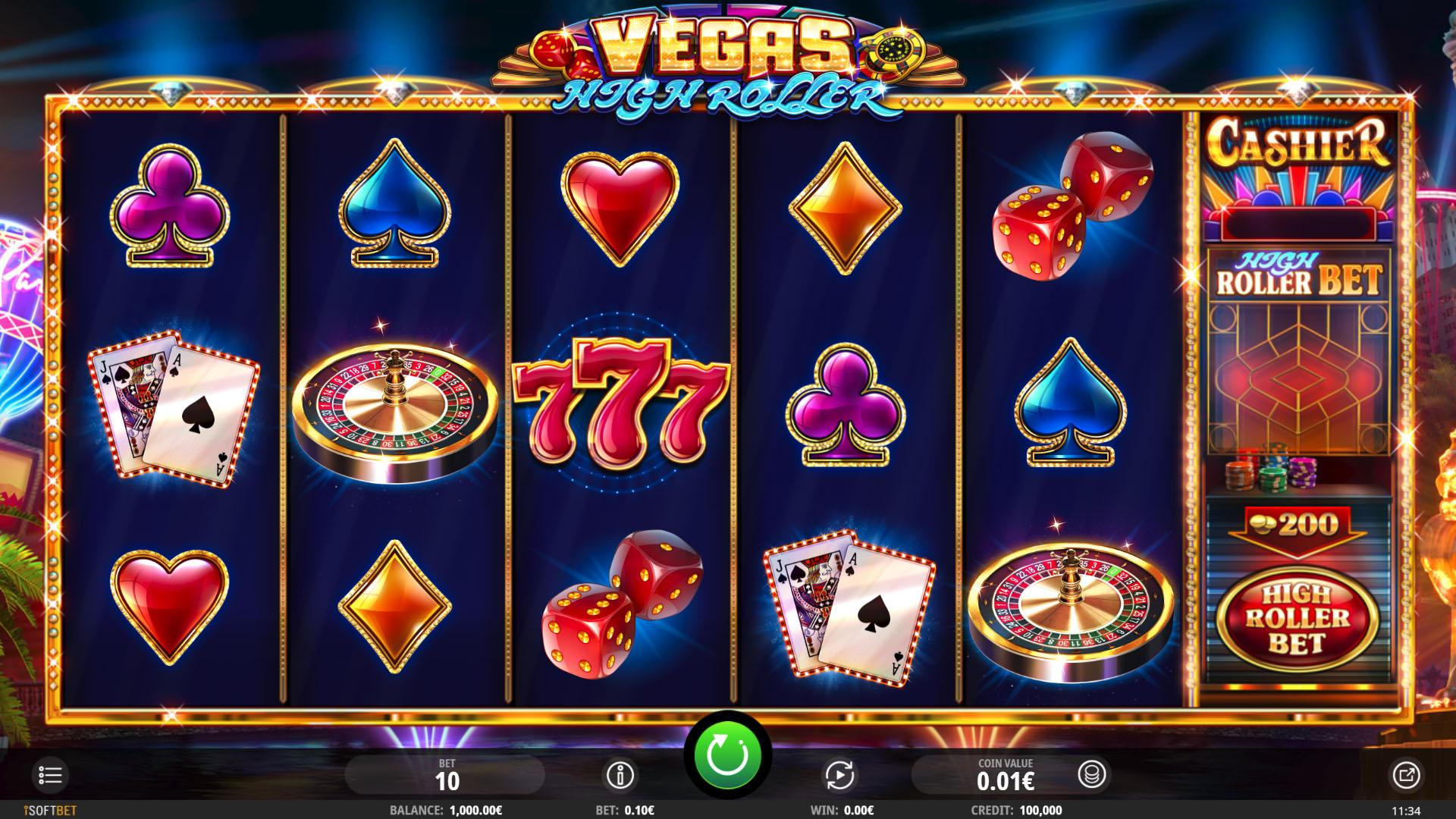 SoftGamings IsoftBet Vegas High Roller