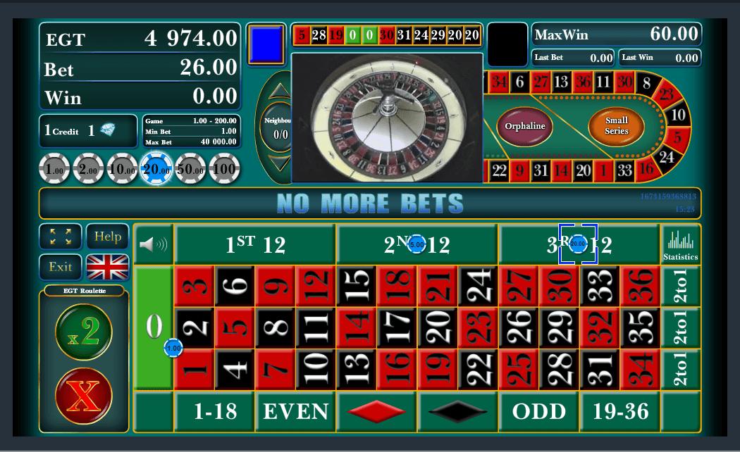 EGT Interactive Eropean Roulette